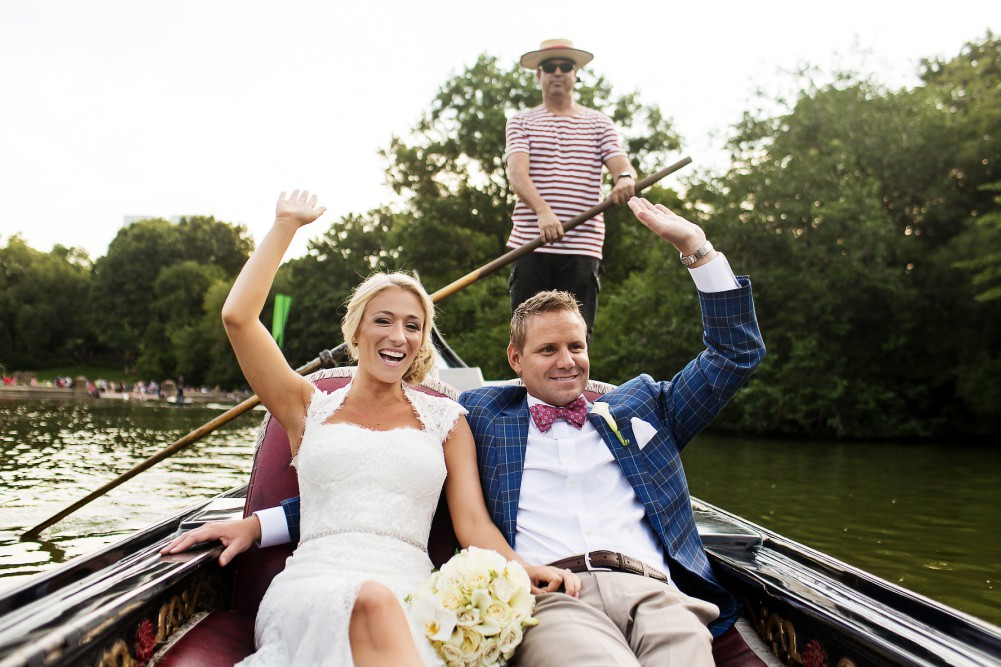 Central Park Boathouse wedding photography