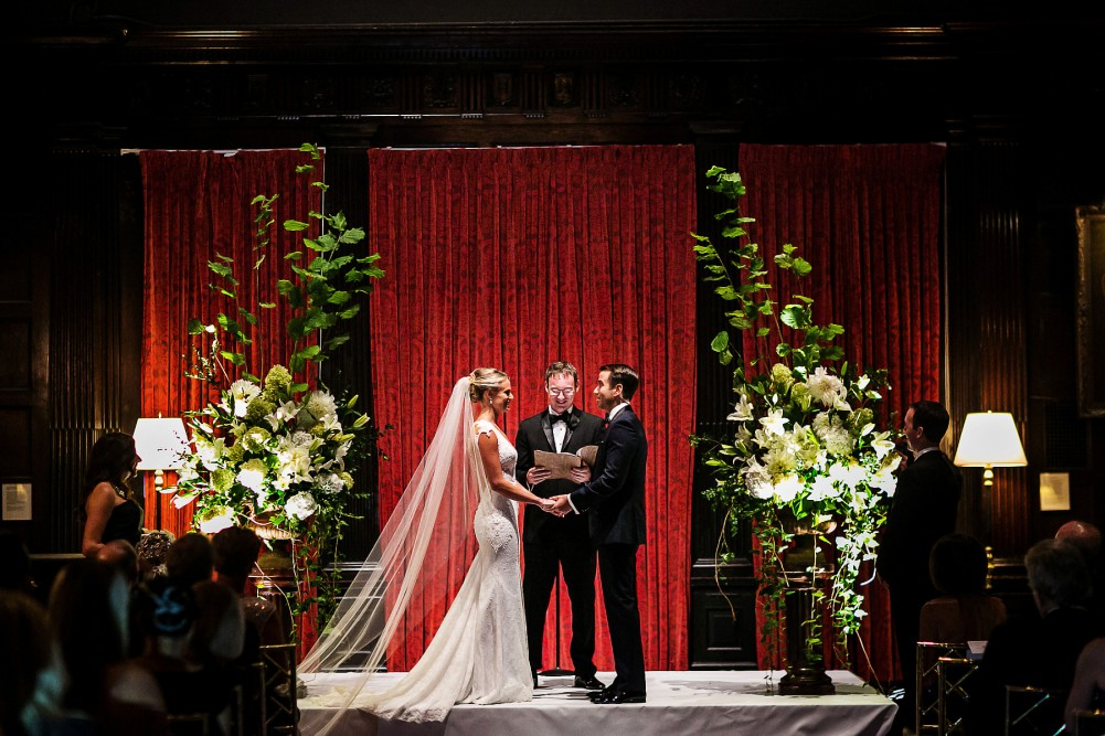 A wedding at the Harvard Club
