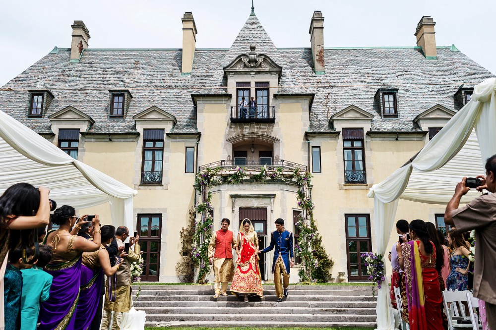 oheka castle garden wedding ceremony