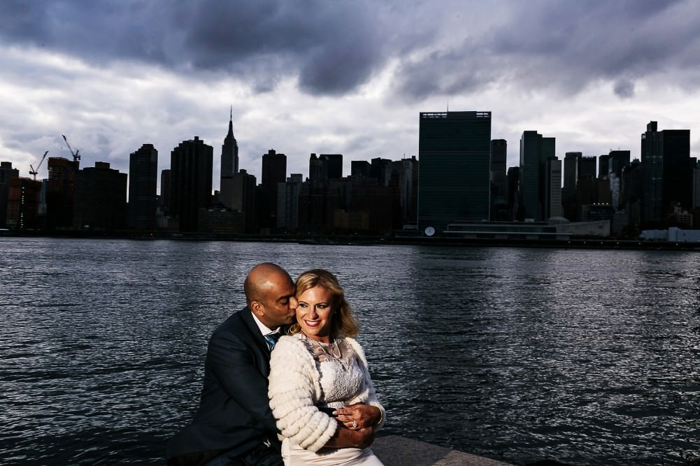 NYC Skyline during a wedding day